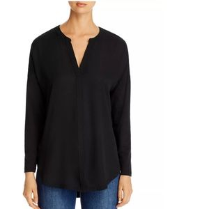 Lyssé Millie Mixed-Media V-Neck Top
